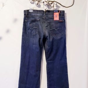 7 For All Mankind Jeans - 7FMK Men's dark wash distressed jeans size 32🦅